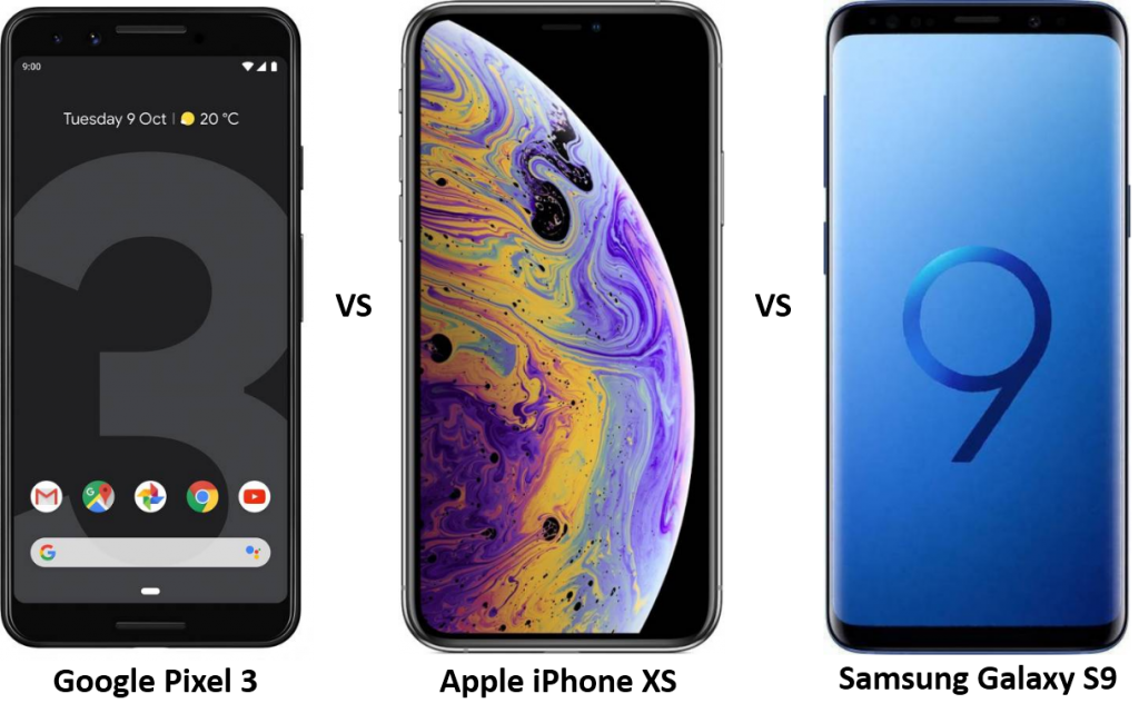 google-pixel-3-vs-iphone-xs-vs-samsung-galaxy-s9-1024x650