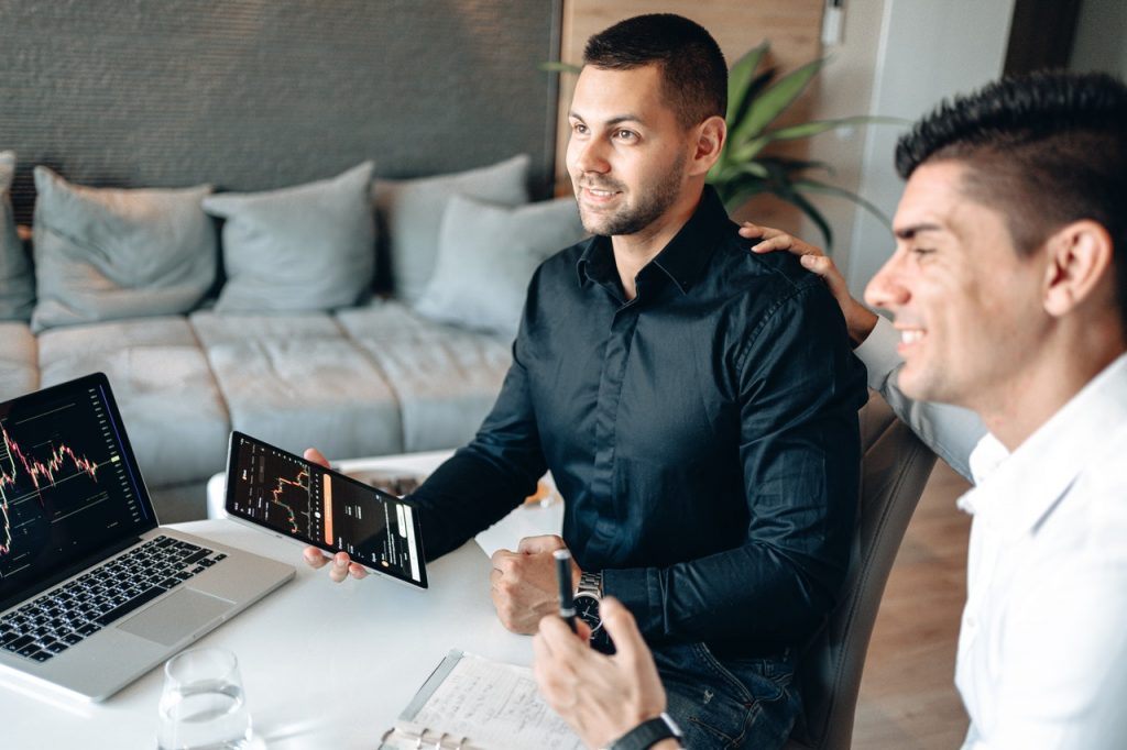 two men working on best seo practices